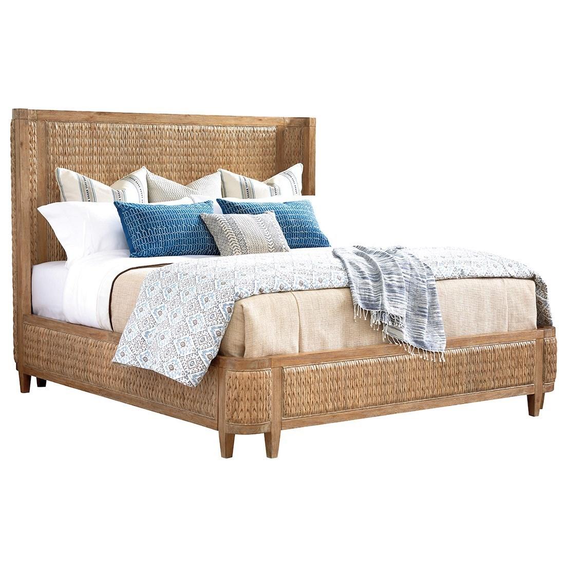 Los Altos Ivory Coast Woven Bed 6/6 King by Tommy Bahama Home at Johnny Janosik