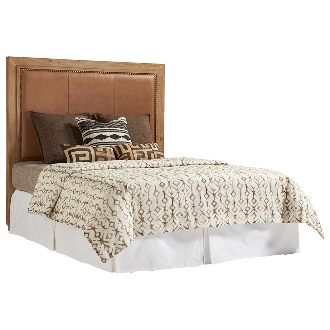 Los Altos Antilles Upholstered Panel Headboard 5/0 Que by Tommy Bahama Home at Baer's Furniture