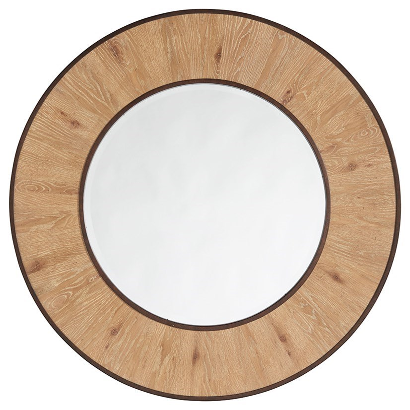 Los Altos Carins Round Mirror by Tommy Bahama Home at Baer's Furniture