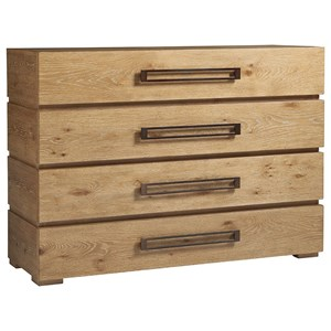 Perth Contemporary Single Dresser with Four Drawers