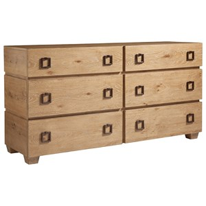 Armiston Contemporary Six Drawer Double Dresser