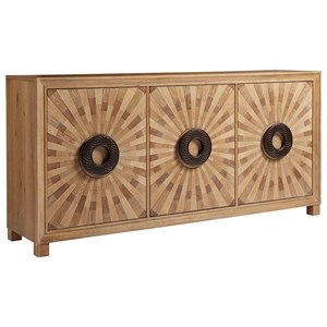 Viceroy Global Sunburst Veneer Buffet with Felt-Lined Silverware Drawers