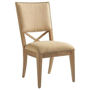 Alderman Upholstered Side Chair in Ellerston Maize Fabric