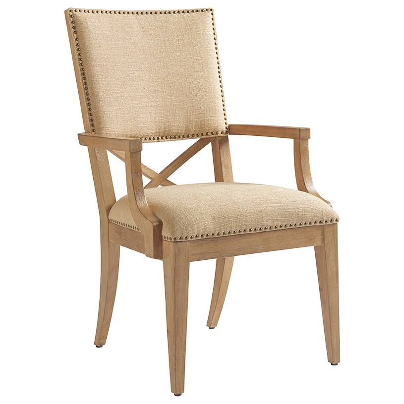 Los Altos Alderman Upholstered Arm Chair by Tommy Bahama Home at Baer's Furniture
