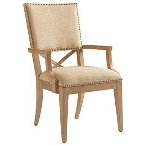 Alderman Upholstered Arm Chair in Ellerston Maize Fabric