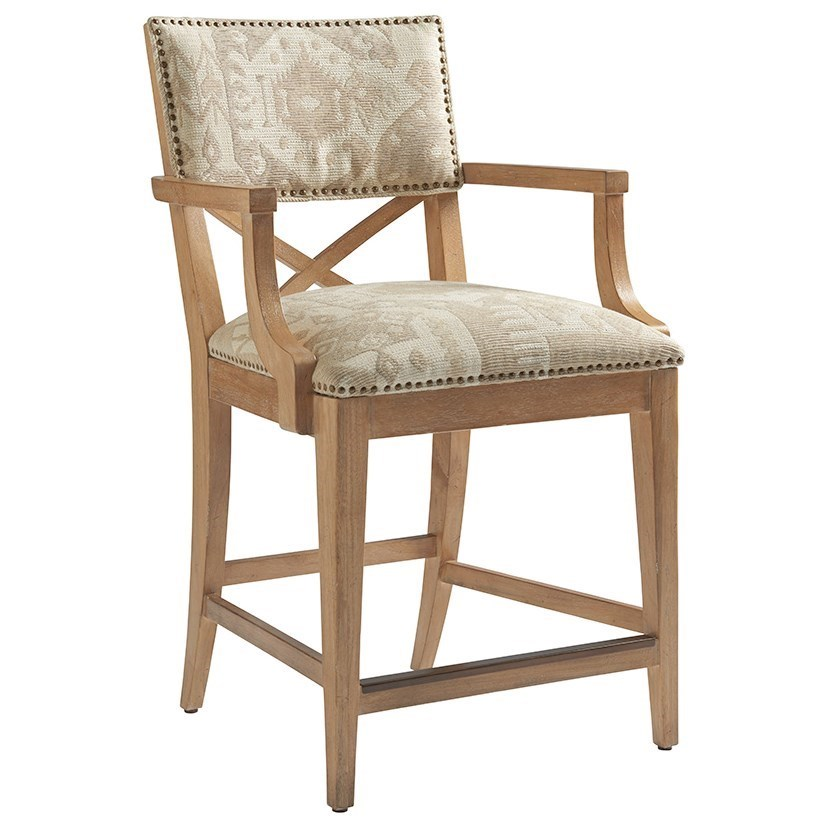 Los Altos Sutherland Upholstered Counter Stool by Tommy Bahama Home at Baer's Furniture