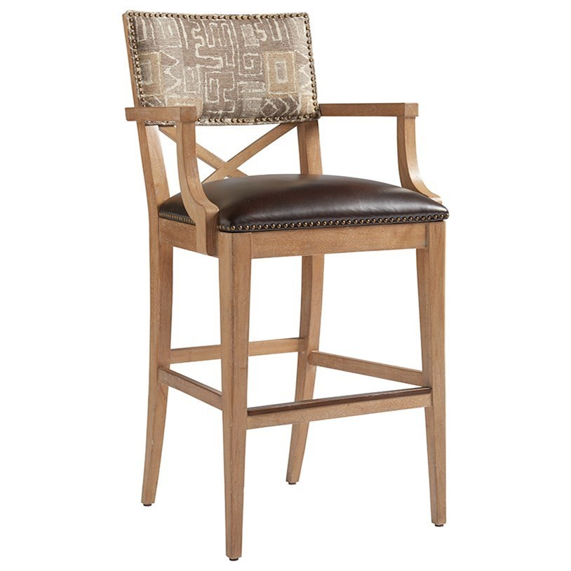 Los Altos Sutherland Upholstered Bar Stool by Tommy Bahama Home at Baer's Furniture