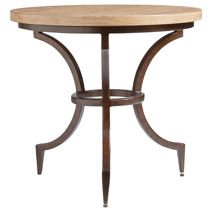 Los Altos Flemming Round End Table by Tommy Bahama Home at Baer's Furniture