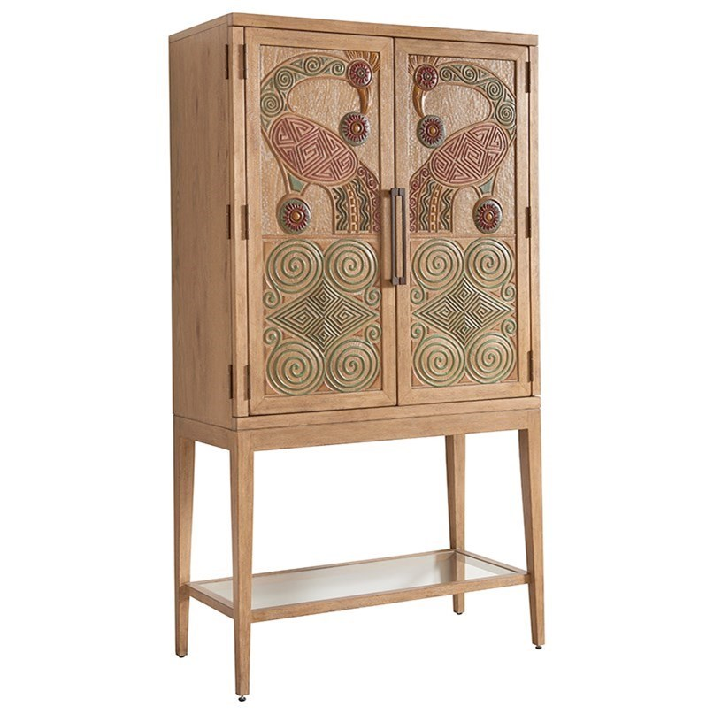 Los Altos Cameroon Bar Cabinet by Tommy Bahama Home at Baer's Furniture