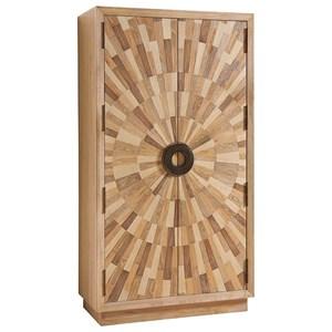 Pavillion Global Sunburst Veneer Cabinet with 165? Doors and Adjustable Shelving
