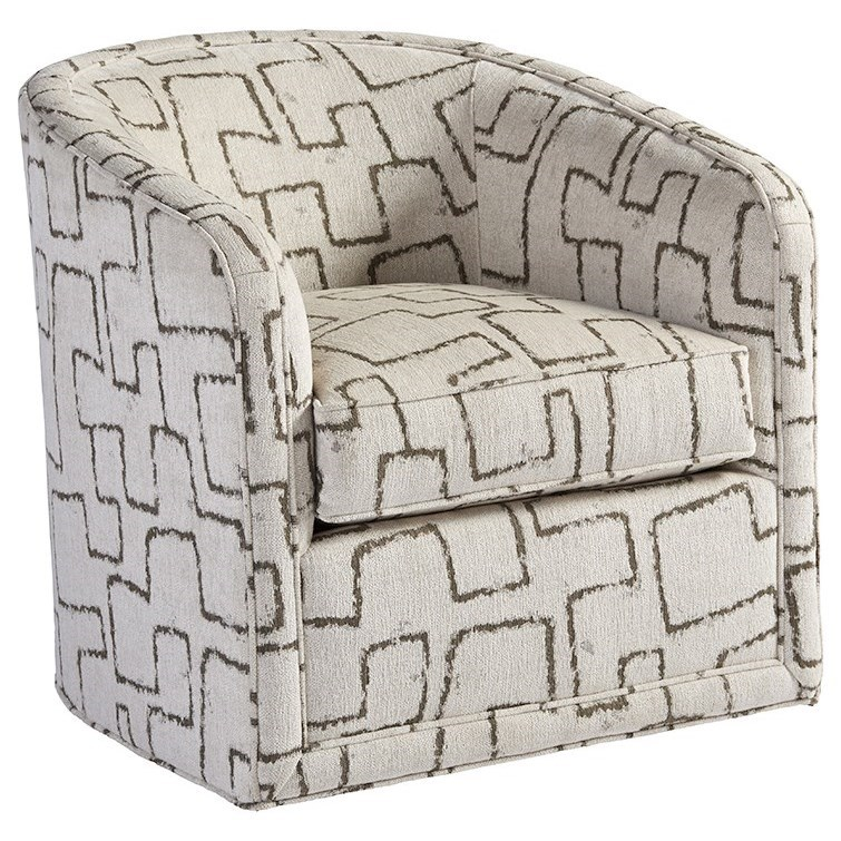 Los Altos Colton Swivel Chair by Tommy Bahama Home at Jacksonville Furniture Mart