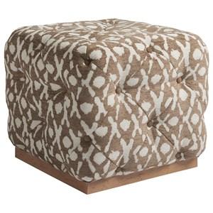 Auburn Cube Ottoman with Button Tufting