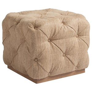 Auburn Cube Ottoman with Button Tufting