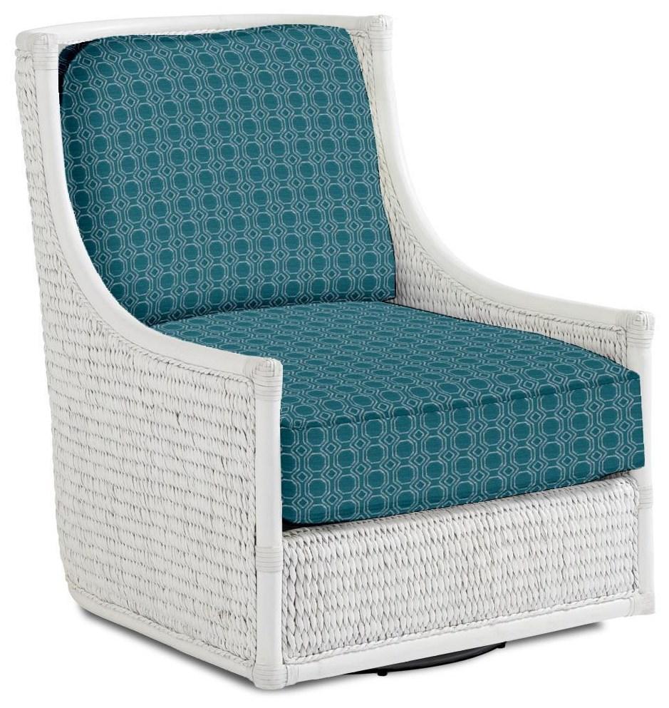 Ocean Breeze Preston Swivel Chair by Tommy Bahama Home at Johnny Janosik