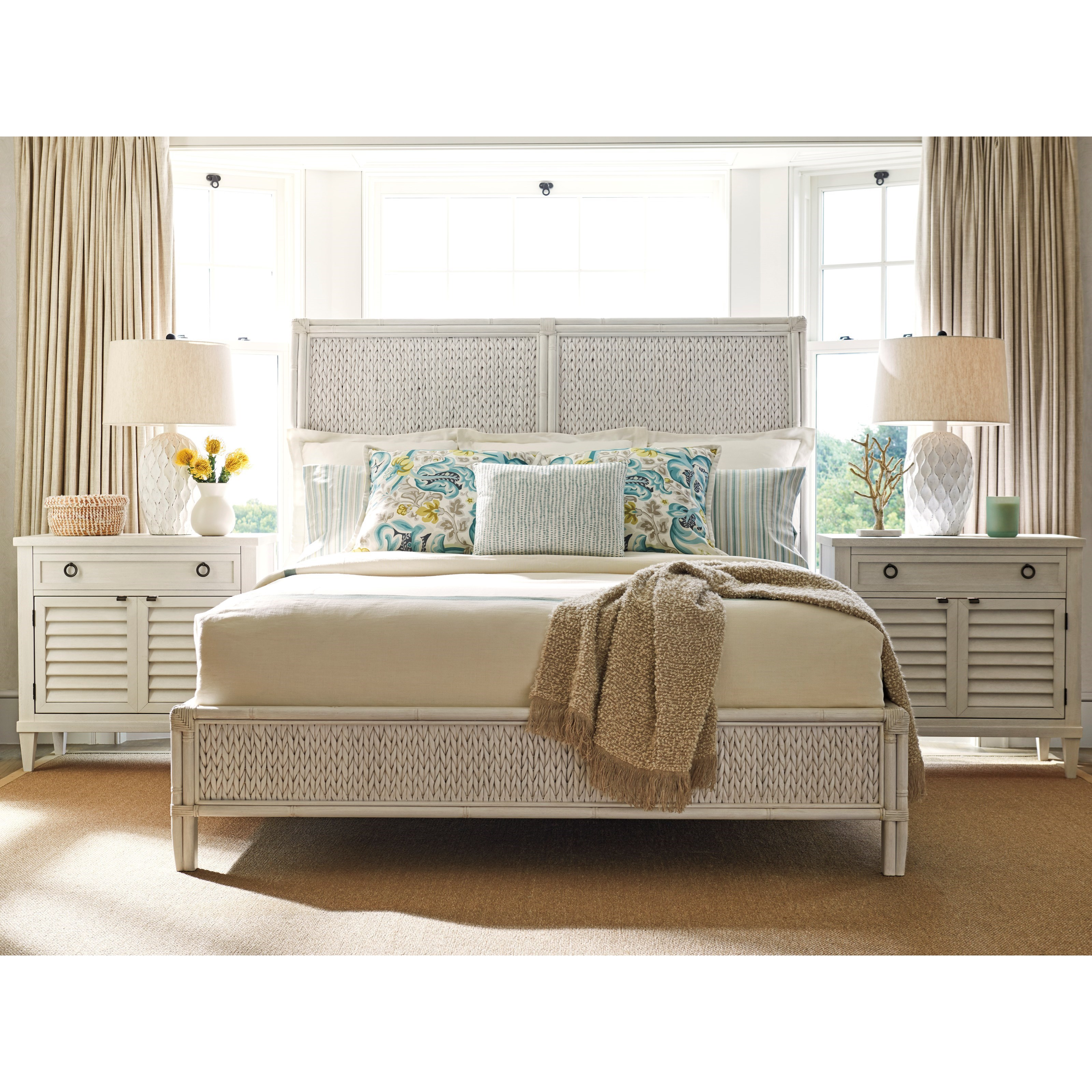 Ocean Breeze Queen Bedroom Group by Tommy Bahama Home at Stuckey Furniture