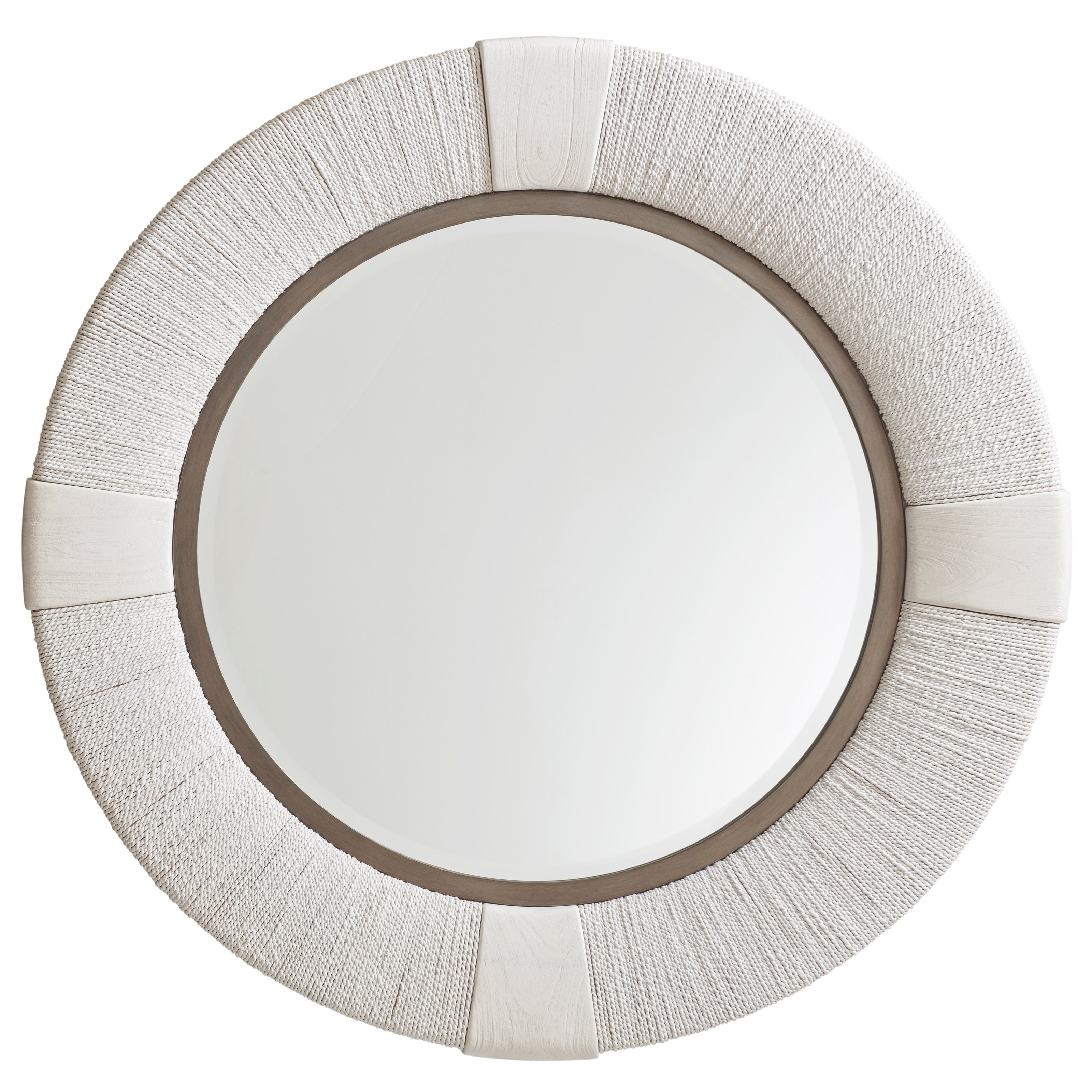 Ocean Breeze Seacroft Round Mirror by Tommy Bahama Home at Baer's Furniture