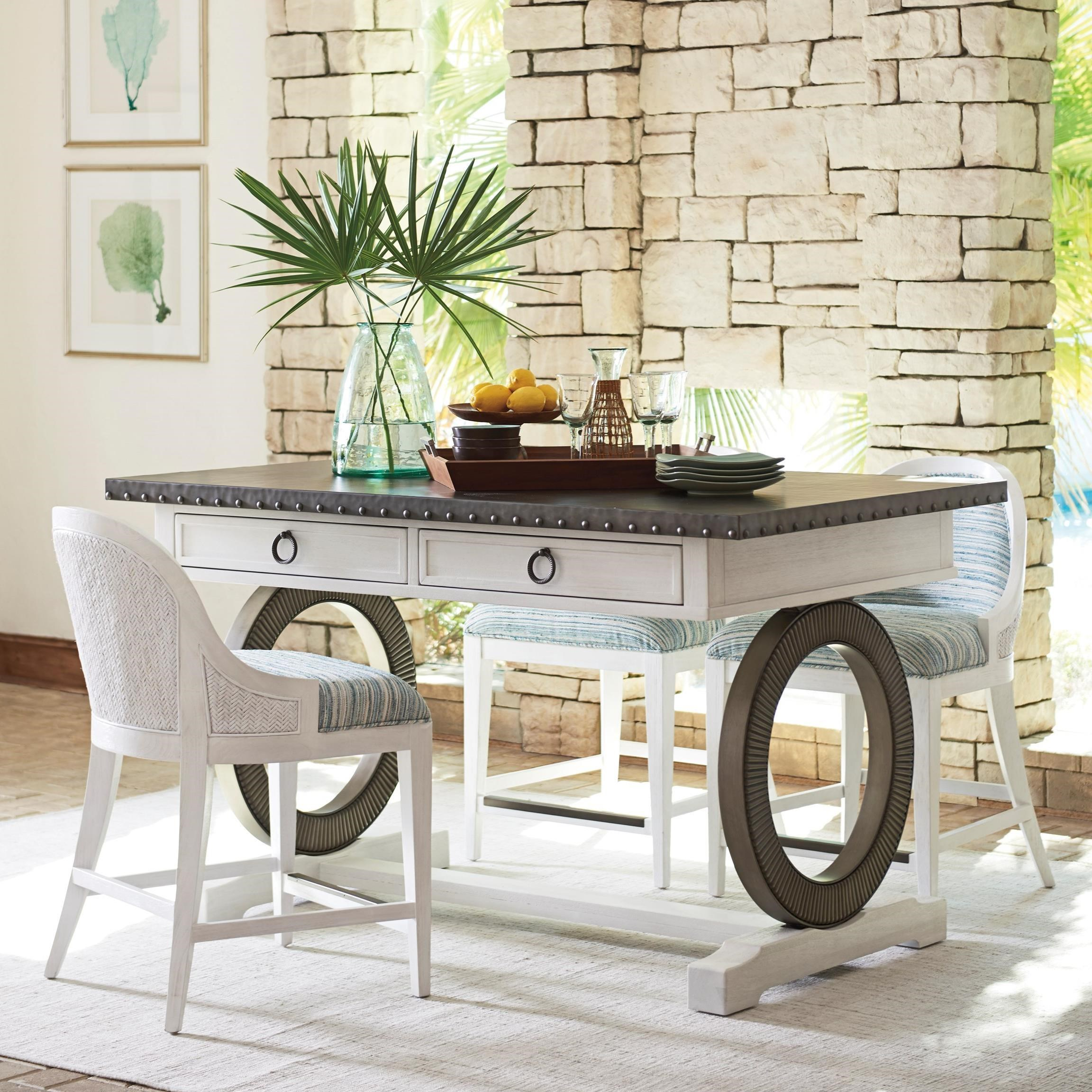Ocean Breeze 4-Piece Dining Set by Tommy Bahama Home at Baer's Furniture