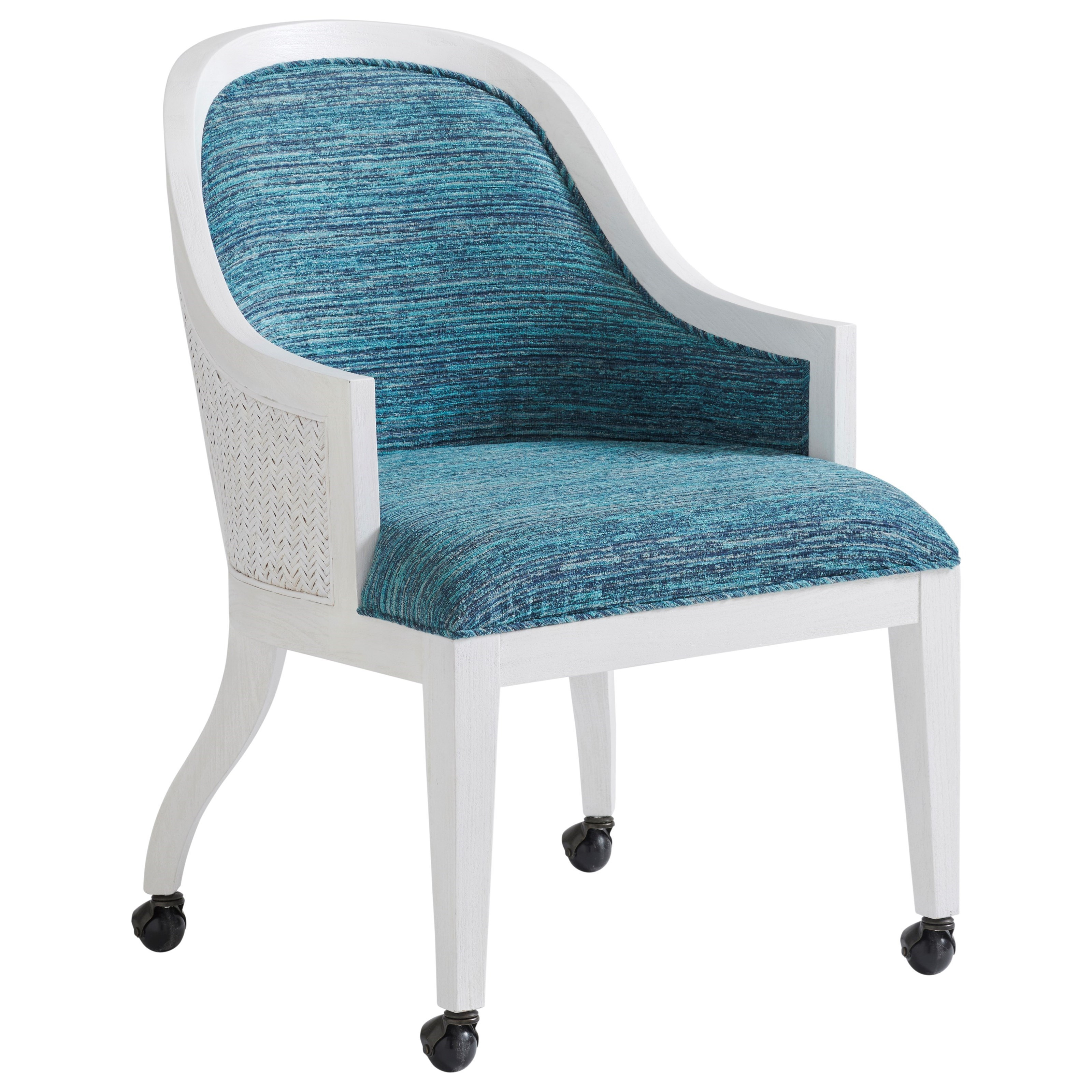 Ocean Breeze Bayview Arm Chair With Casters by Tommy Bahama Home at Baer's Furniture