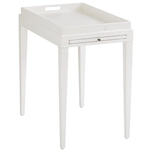 Broad River Rectangular End Table with Pull-Out Shelf and Handles