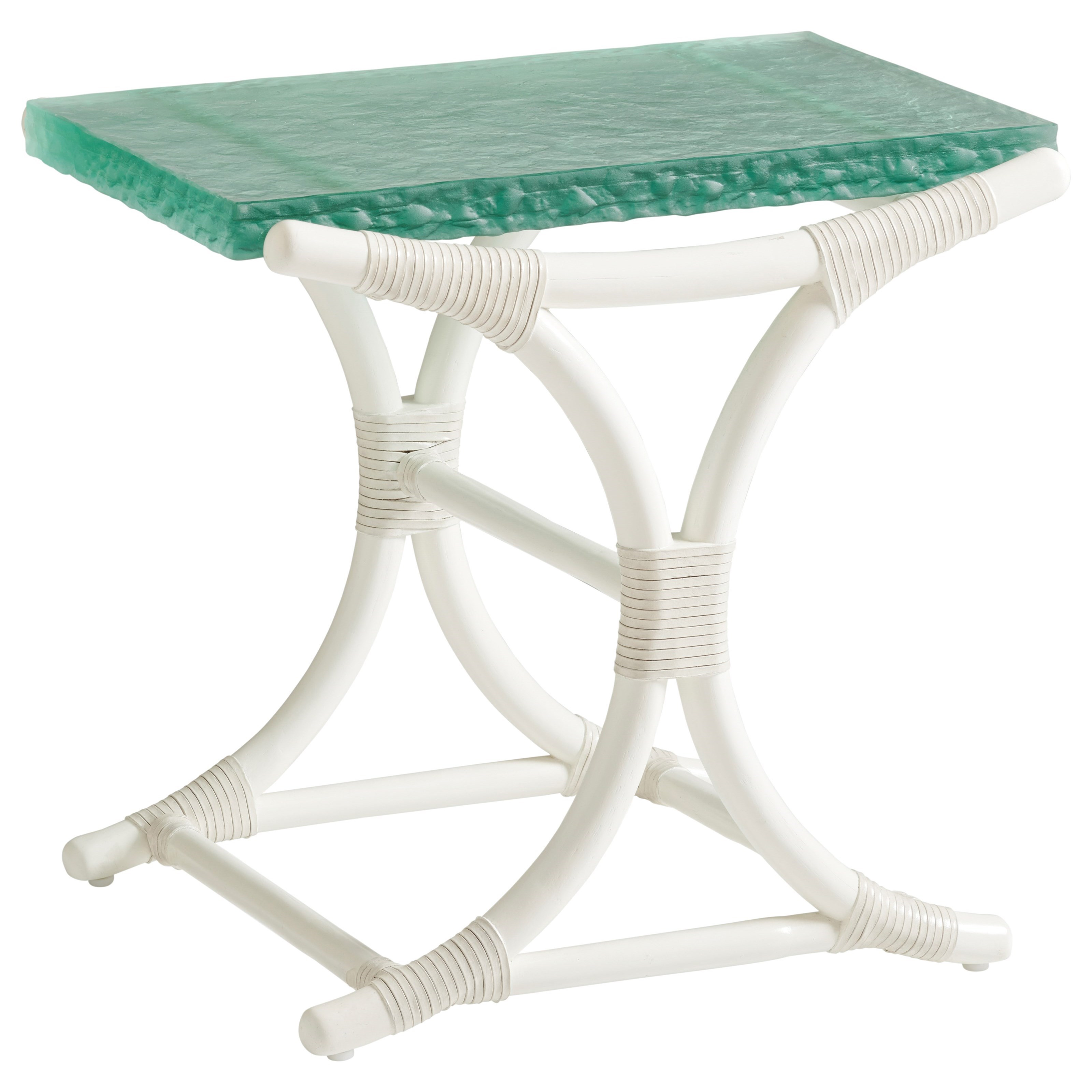 Ocean Breeze Dania Sea Glass End Table by Tommy Bahama Home at Baer's Furniture