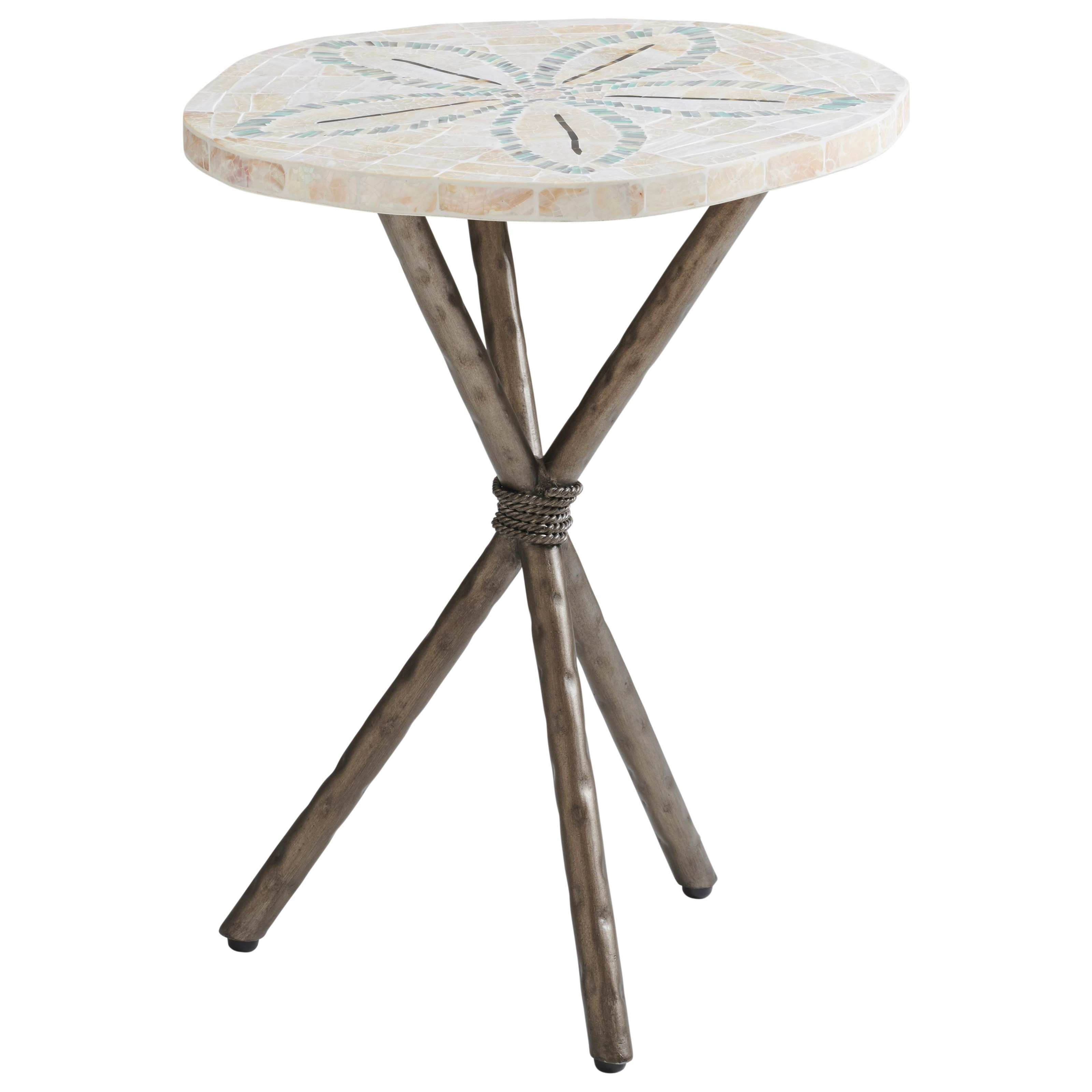 Ocean Breeze Sand Dollar End Table by Tommy Bahama Home at Johnny Janosik