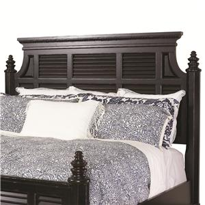 Queen-Size Malabar Panel Headboard with Shutter Details & Classic Crown Molding