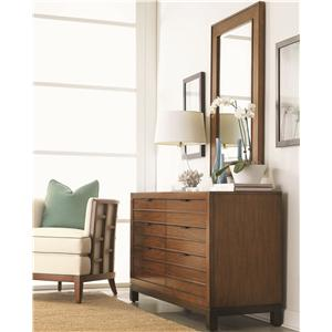 Six-Drawer Palm Bay Dresser & Beveled Somerset Mirror Combination