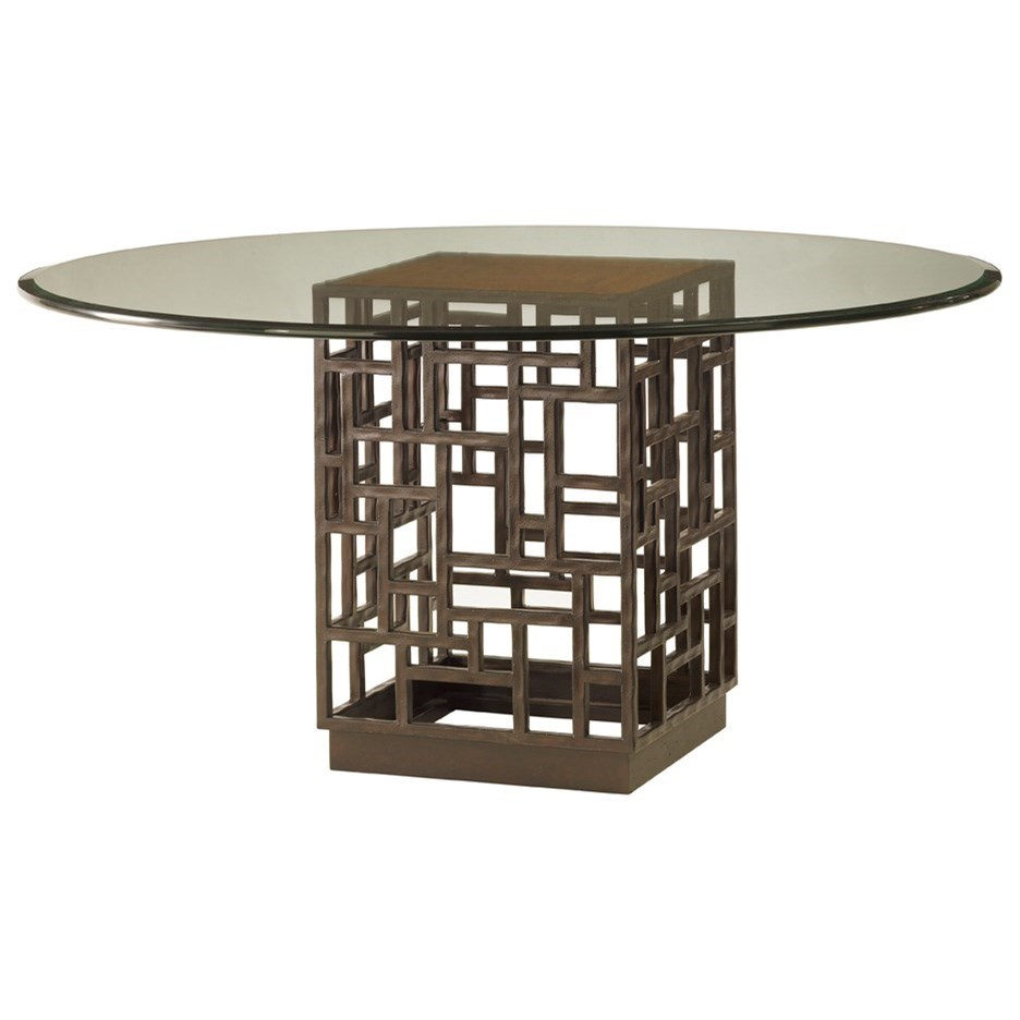 """Ocean Club South Sea Round Glass Table w/ 54"""" Top by Tommy Bahama Home at Baer's Furniture"""