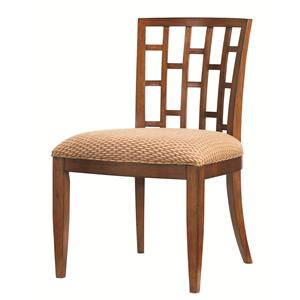 <b>Quick Ship</b> Lanai Side Chair with Geometric Pattern