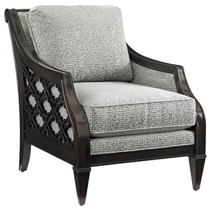 Bay Club Chair with Quatrefoil Design Sides