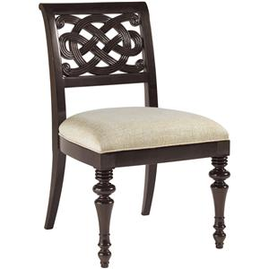 Quick Ship Molokai Side Chair with Upholstered Seat