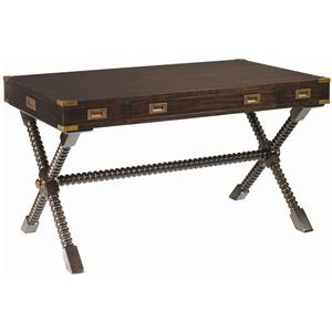 Poets Crossing Writing Desk with Brass Accents