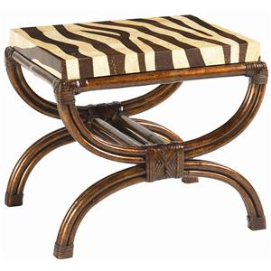 Coco Shell Zebra-Print Striped Delight Accent Table