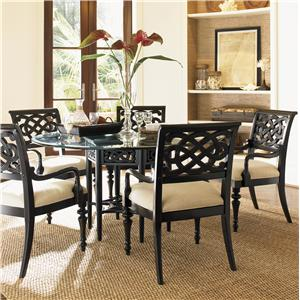 "Seven-Piece 60"" Sugar and Lace Table with Molokai Chairs Set"