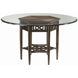 Sugar and Lace Table with 60-Inch Round Glass Top