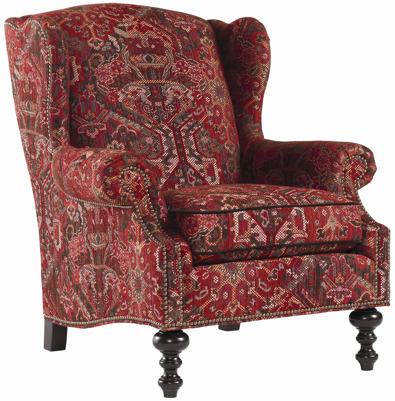 Royal Kahala Batik Wing Chair by Tommy Bahama Home at Baer's Furniture