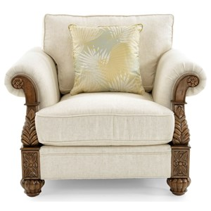 Benoa Harbour Loose Back Chair in Ivory Body Fabric