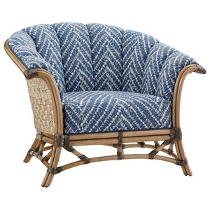 Pelican Key Chair with Basket-Woven Banana Leaf Detail