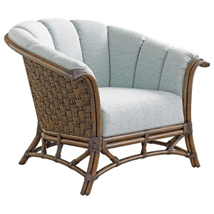 Sunset Key Chair with Basket-Woven Banana Leaf Detail