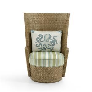 Lago Mar Rattan Swivel Chair