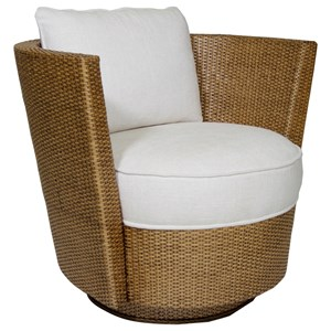 Tarpon Cay Rattan Swivel Chair