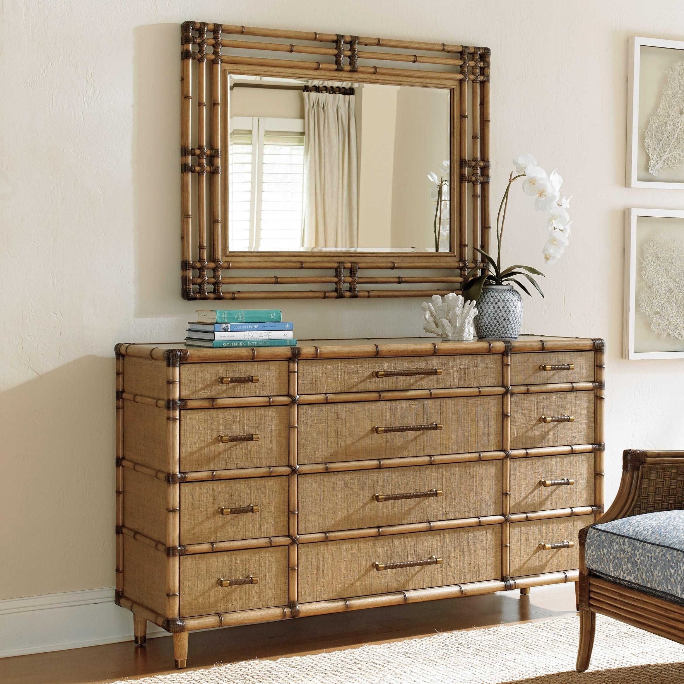 Twin Palms Windward Dresser and Savana Mirror Set by Tommy Bahama Home at Baer's Furniture
