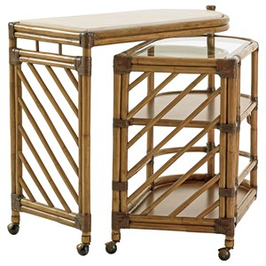 Cable Beach Nesting Bar Cart with Cordova Stone Top