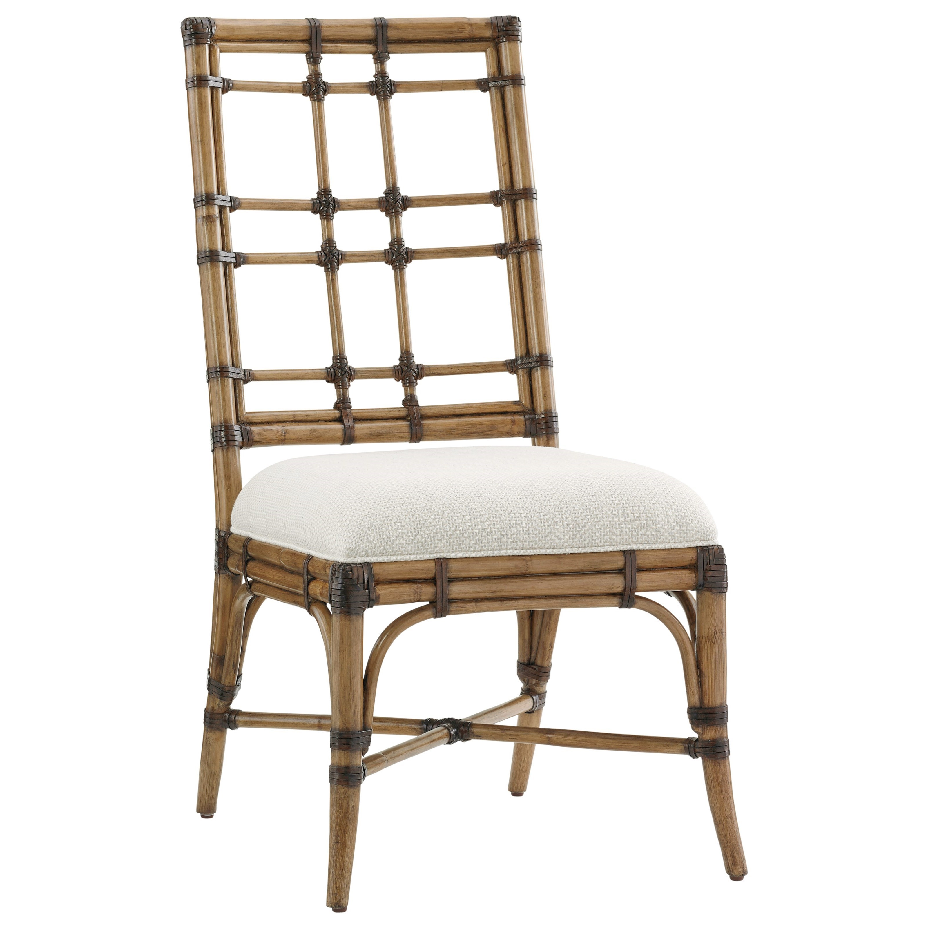 Twin Palms Seaview Side Chair (Married Fabric) by Tommy Bahama Home at Malouf Furniture Co.