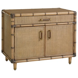 Larimar Raffia Storage Chest with Adjustable Shelves