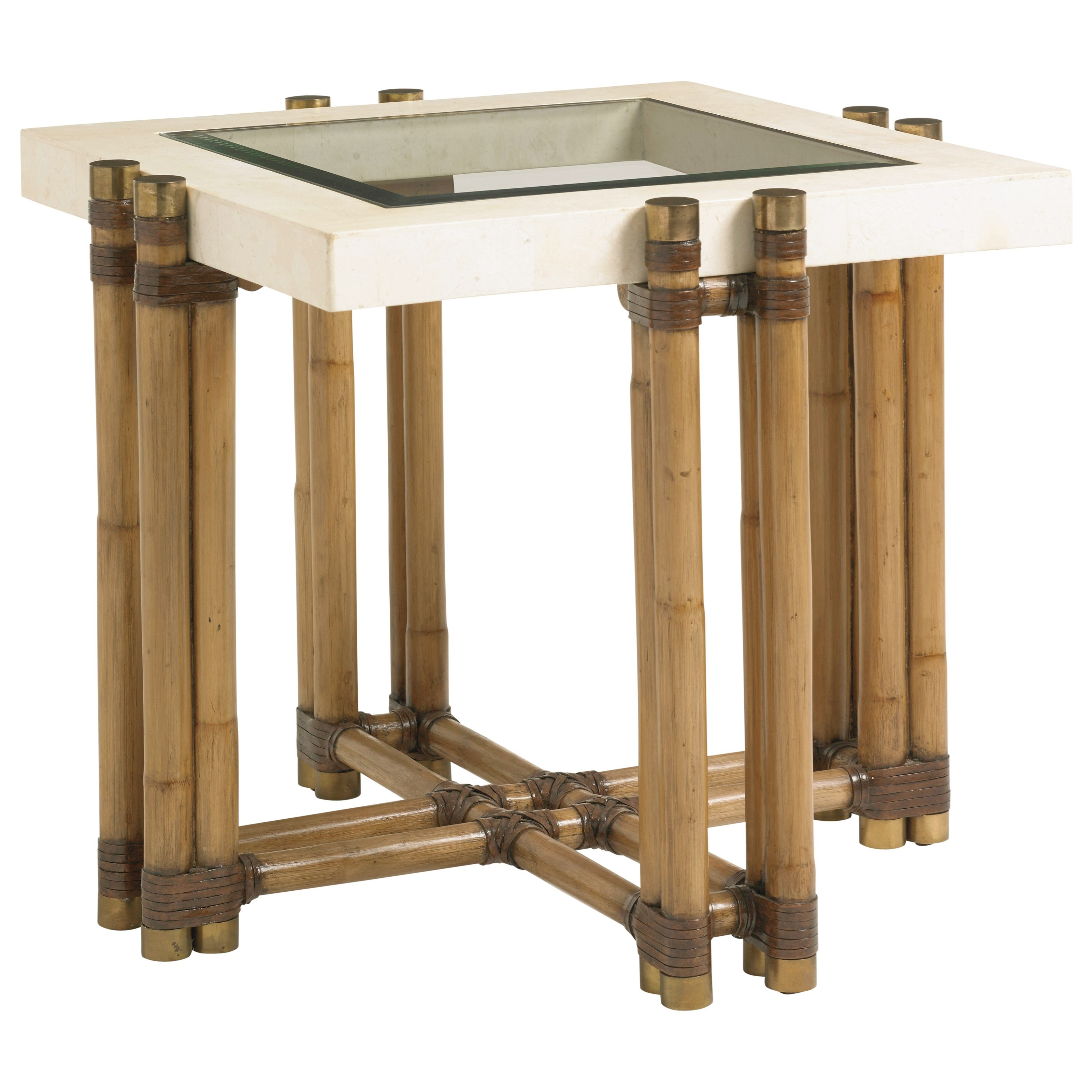Twin Palms Los Cabos Lamp Table by Tommy Bahama Home at Baer's Furniture