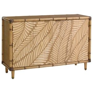 St. Croix Hall Chest with Palm Frond Motif and Bi-Fold Doors