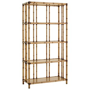 Seven Seas Etagere with Carved Bamboo Design