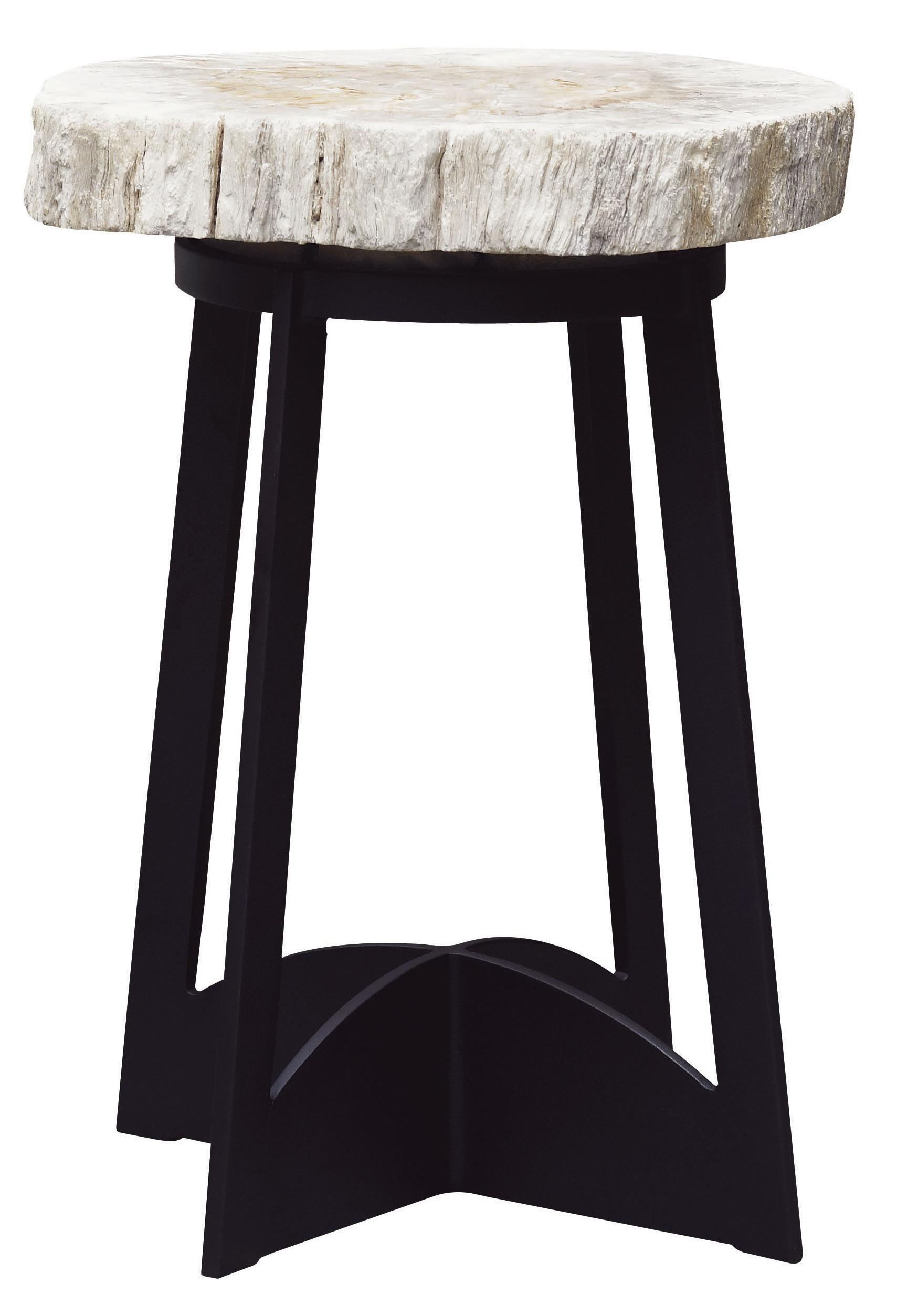 Alfresco Living Petrified Wood End Table by Tommy Bahama Outdoor Living at Baer's Furniture