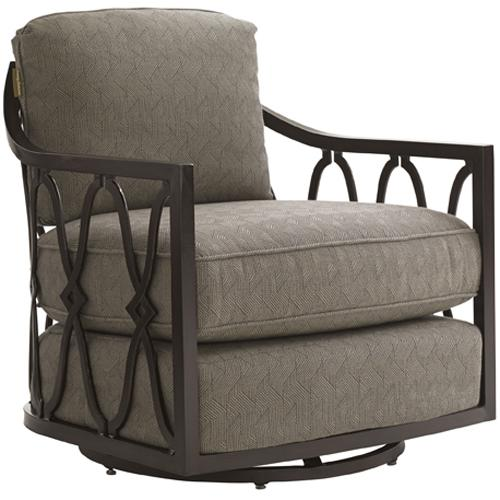 Black Sands Outdoor Swivel Tub Chair by Tommy Bahama Outdoor Living at Baer's Furniture